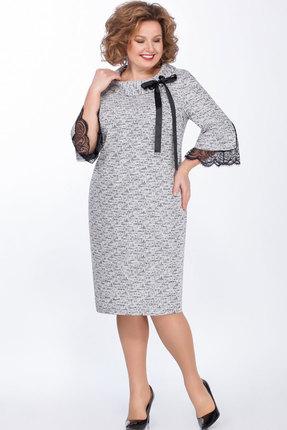 женское вечерние платье теллура-л, серое