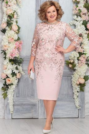 Платье Ninele 5753 пудра