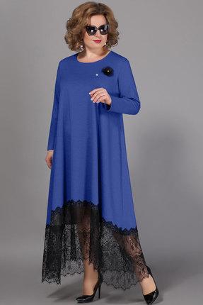 женское вечерние платье сч@стье, синее