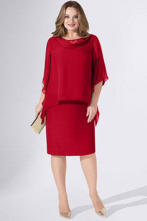 женское вечерние платье avanti erika, красное