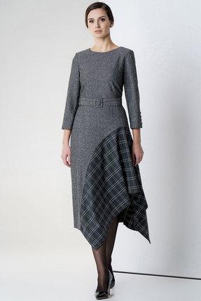 женское повседневные платье olegran, серое