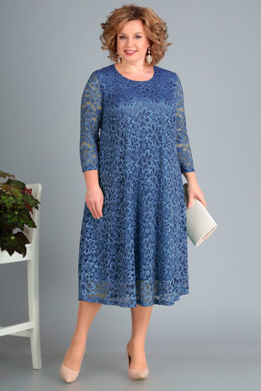 женское вечерние платье новелла шарм, синее