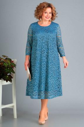 женское вечерние платье новелла шарм, голубое