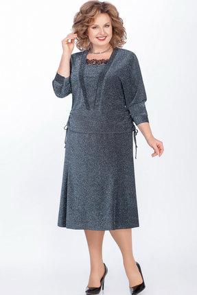Комплект юбочный LaKona 1271 сине-серый