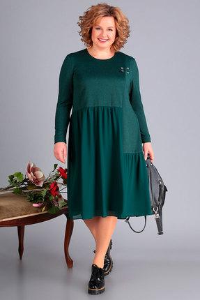 женское вечерние платье новелла шарм, зеленое