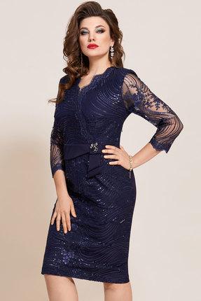 женское вечерние платье vittoria queen, синее