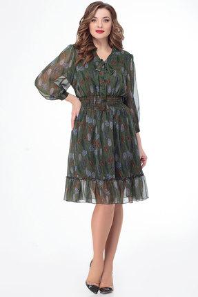 Фото - Платье Дали 3450 зеленый зеленого цвета