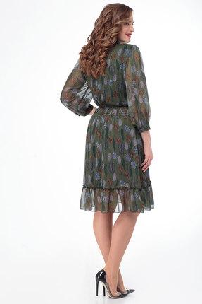 Фото 2 - Платье Дали 3450 зеленый зеленого цвета
