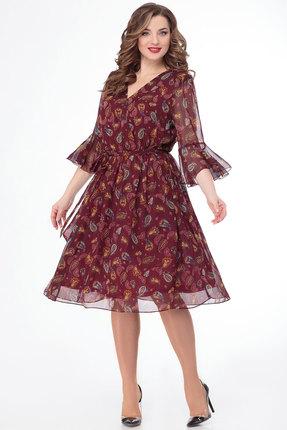 Фото - Платье Дали 3451 бордо цвет бордо