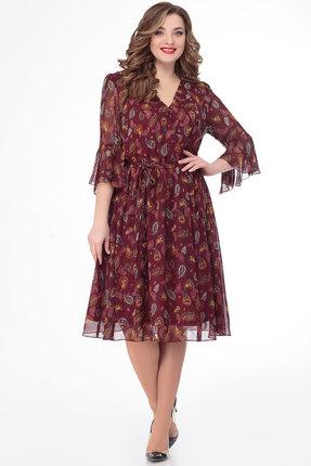 Фото 2 - Платье Дали 3451 бордо цвет бордо