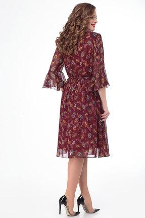 Фото 3 - Платье Дали 3451 бордо цвет бордо