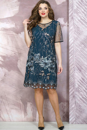 Платье Белтрикотаж 6878 темно-бирюзовый БЕЛТРИКОТАЖ
