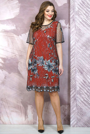 Платье Белтрикотаж 6878 кирпичный