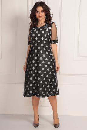 Платье Solomeya Lux 667 черный в горох