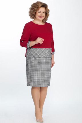 Комплект юбочный БагираАнТа 608 красный с серым