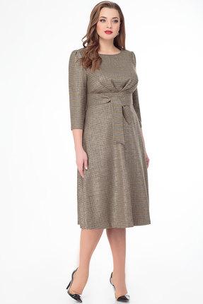Платье БелЭкспози 1325 оливковые тона
