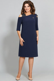 Платье Olga Style с635 синий