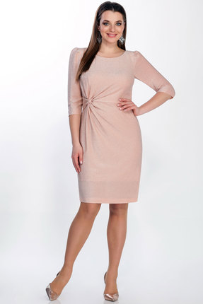 Платье LaKona 1275 пудровый