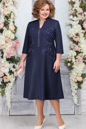 Платье Ninele 5758 тёмно-синий