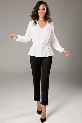 Блузка Teffi style 1468 молочный