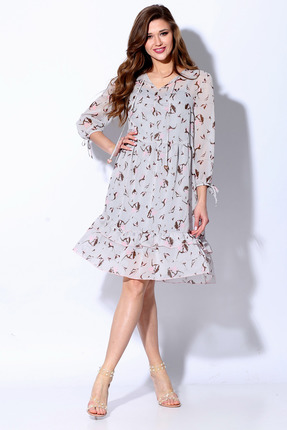 Платье Anna Majewska 1332Rio серо-сиреневый