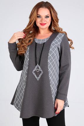 женская блузка таир-гранд, серая