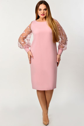 Платье Elga 01-649 пудра