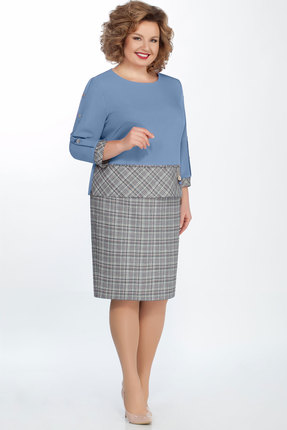 Комплект юбочный БагираАнТа 608 голубой с серым