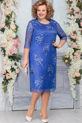 Платье Ninele 2237 василёк