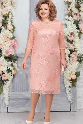 Платье Ninele 2237 пудра