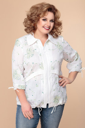Блузка Romanovich style 8-769 белый с зеленым