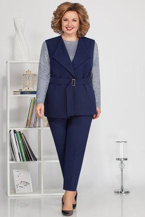женский брючный костюм ivelta plus, синий