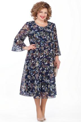 Платье Pretty 854 синие тона
