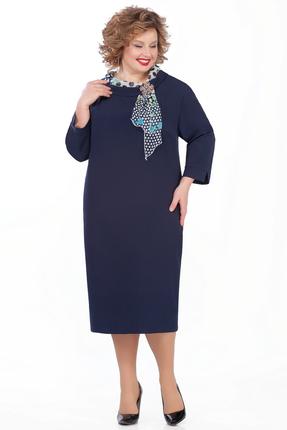 женское повседневные платье pretty, синее