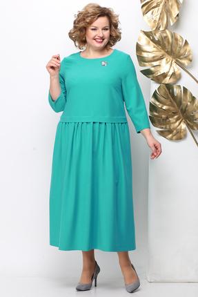женское повседневные платье michel chic, бирюзовое