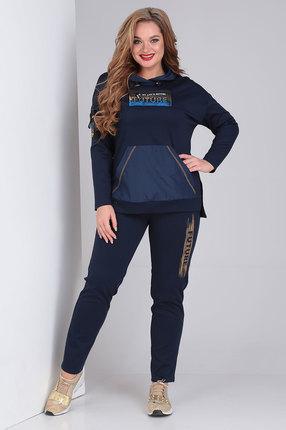 женский брючный костюм ollsy, синий
