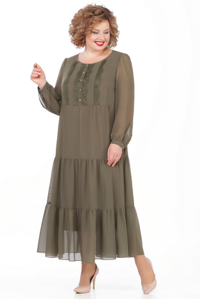 женское повседневные платье pretty, хаки