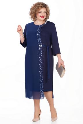 женское вечерние платье pretty, синее