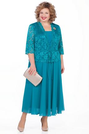 женское вечерние платье pretty, бирюзовое