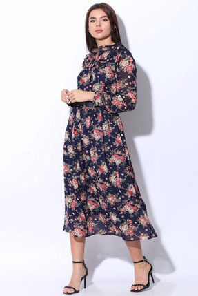 Платье Ladis Line 1190 синий с розовым