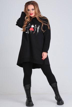 женская туника andrea style, черная