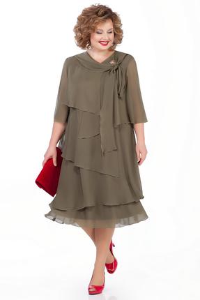 Платье Pretty 1019 хаки