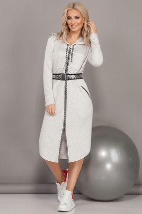 Спортивное платье DilanaVIP 1482/1 светло-серый