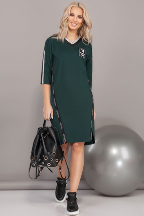 Спортивное платье DilanaVIP 1484 изумрудный
