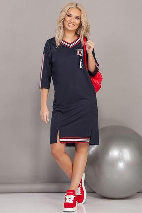Спортивное платье DilanaVIP 1485 синий