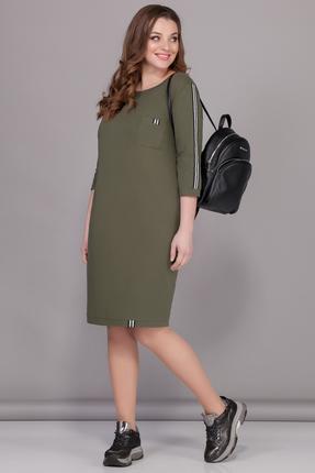Спортивное платье B&F 2074 хаки