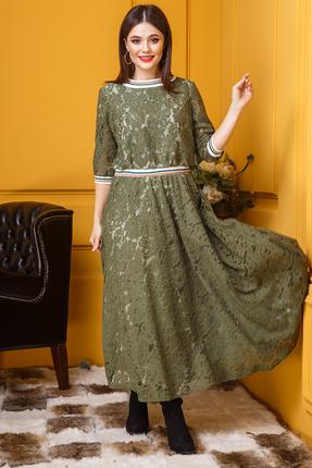 Платье Anastasia 382 зеленые тона