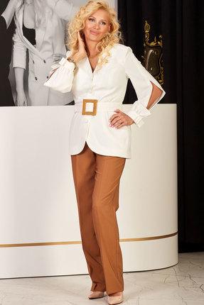 женский брючный костюм vesnaletto, белый