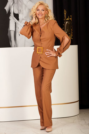 женский брючный костюм vesnaletto, коричневый