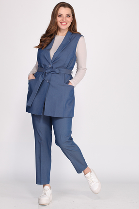 женский брючный костюм anastasia mak, голубой